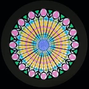 ストラブール大聖堂の薔薇窓